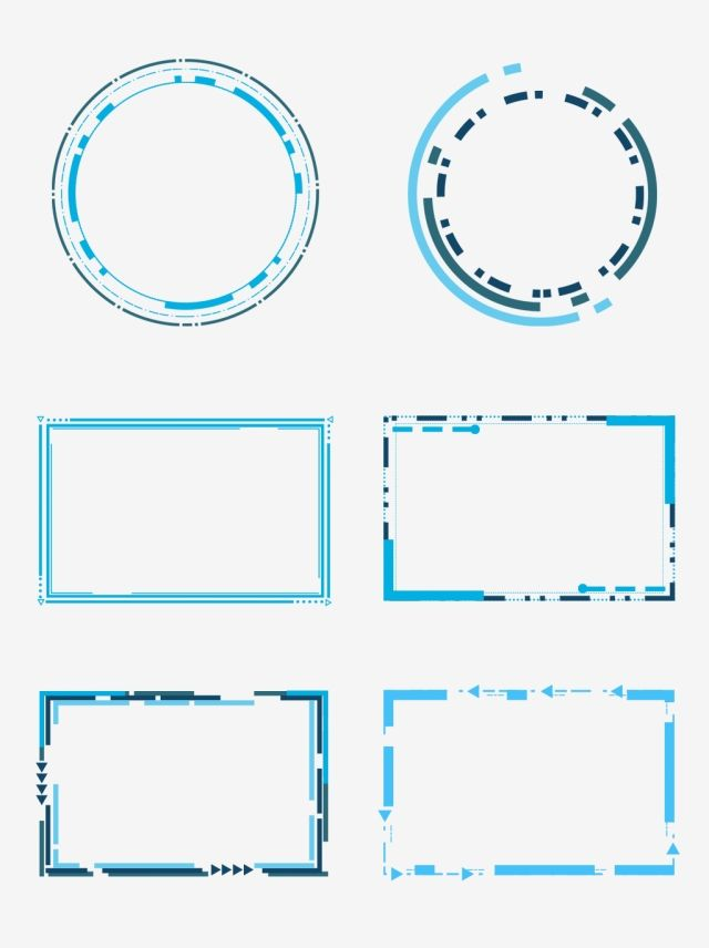 Tech Border Blue Box Round Frame Dialog Commercial Blue Geometric Frame Png Transparent Clipart Image And Psd File For Free Download Geometric Box Geometric Background Frame Clipart