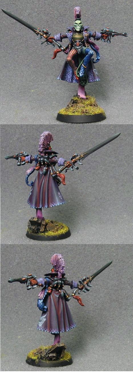 Harlequin Troupe Master - color palette is a little odd, but all of the tiny details are amazing