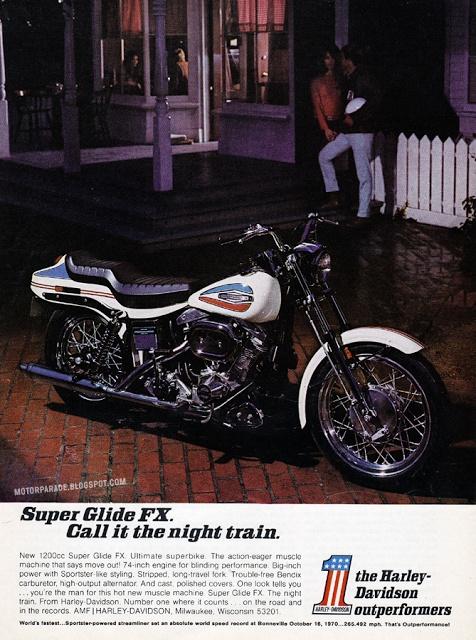 Vintage Brochures: Harley Super Glide FX Boat Tail 1970 (Usa)