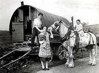 Irish travellers ... ca. early 1950's Can you put a name to this family for a Roma photographic database that I am creating ==thanks