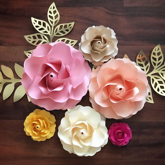 Paper Flowers Svg Tiny Rose 1 Template In 6 Different Sizes