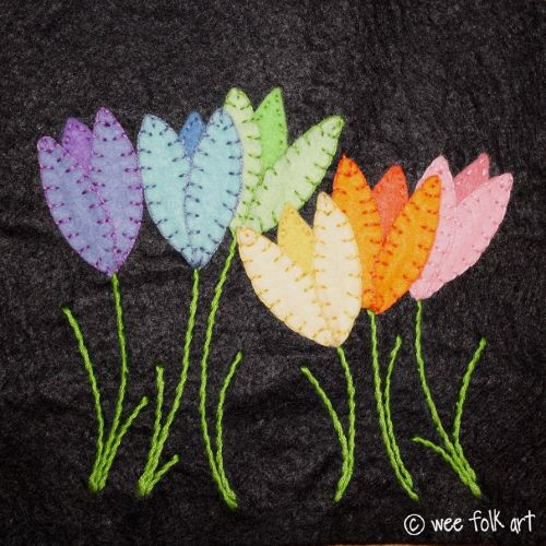 FREE Applique Patterns | Wee Folk Art Tulips