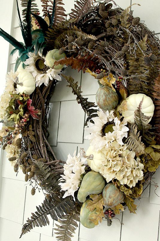 Create a DIY Rustic Luxe Fall Wreath for a lot less then you can find at the stores.