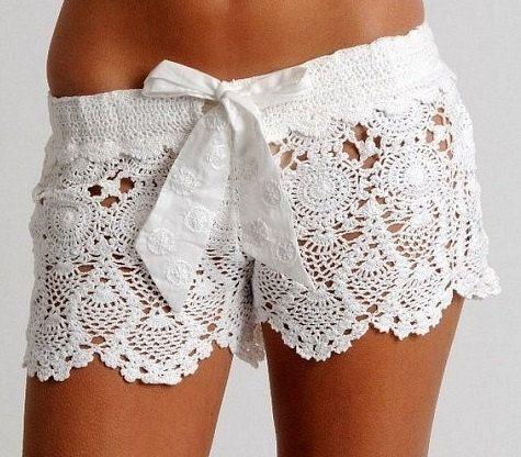 Sexy crochet lace   shorts by Martinesknite on Etsy