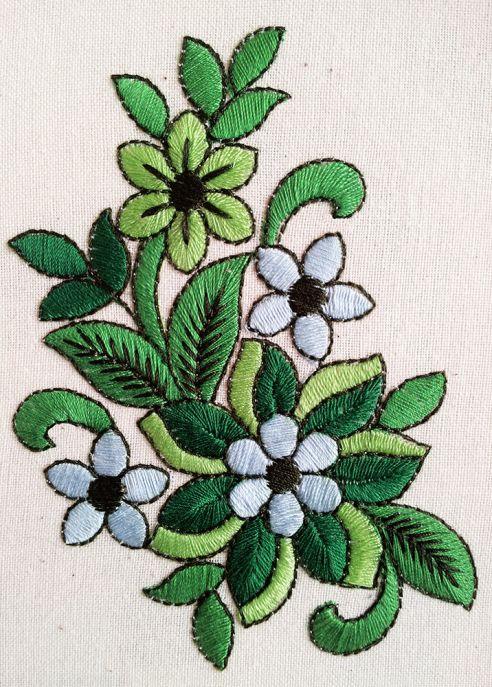Дизайн для машинной вышивки бесплатно - Весенняя зелень Free Machine Embroidery Design - Spring mood