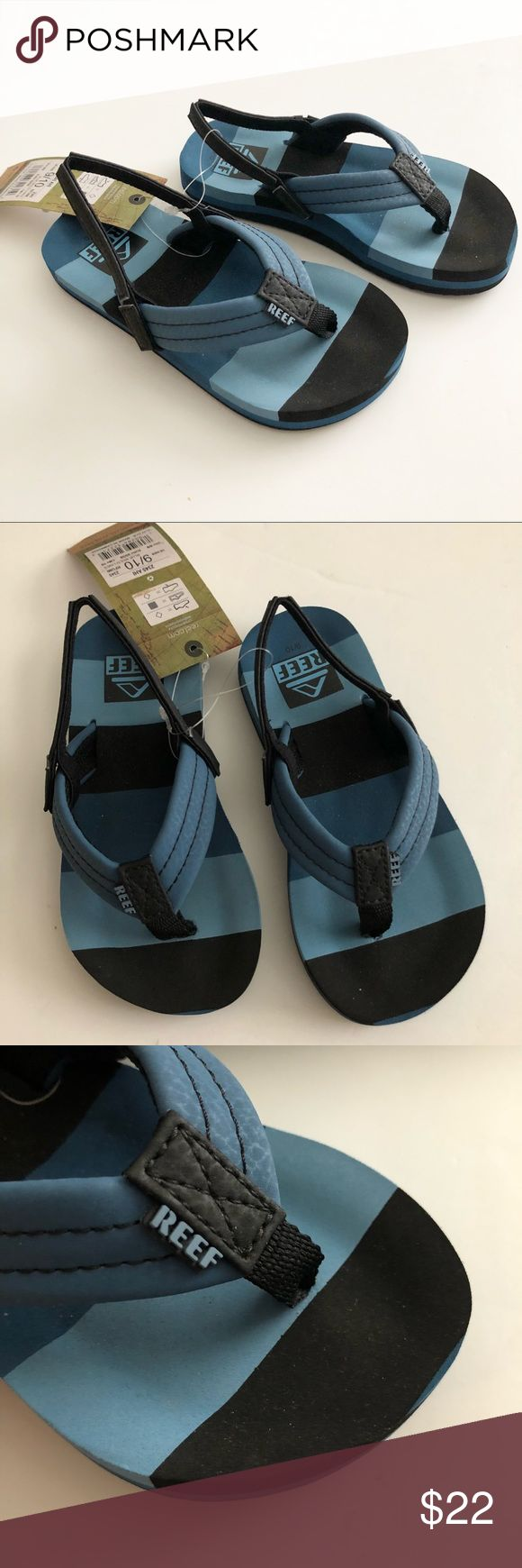 NWT! Reef flip flops NWT! Reef flip flops with stretchy back strap. Size 9/10 Reef Shoes Sandals & Flip Flops