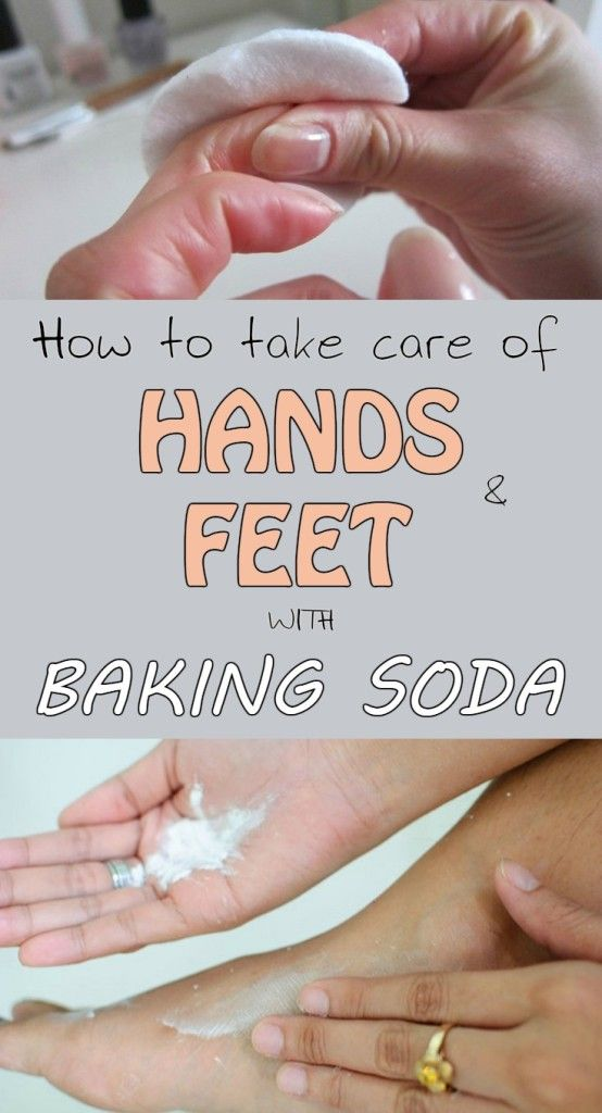 Learn how to take care of hands and feet with baking soda.