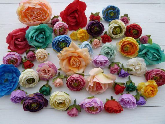 Set 50pcs flowers for holiday decorhair от VitasjaCrochet на Etsy