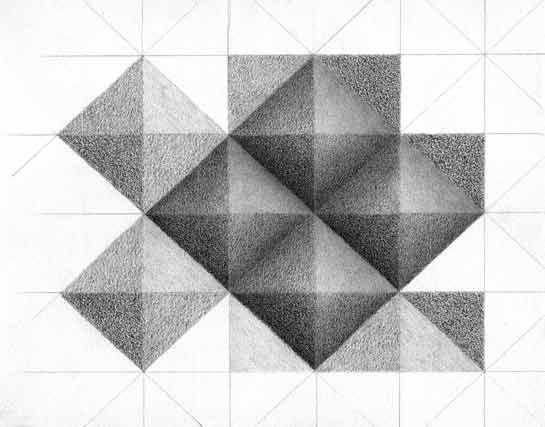 Sketch Book Exercise – Three Dimensional Pyramids | Carol's Drawing Blog