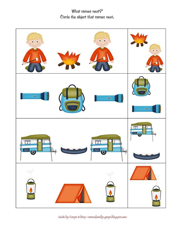 Preschool Printables Lets Go Camping Printable