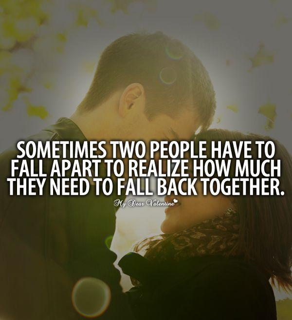 før falder i at komme sammen? elsker