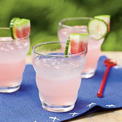 4th of July Recipes - 4th of July Recipes: Watermelon and Cucumber Tonic - Cooking Light