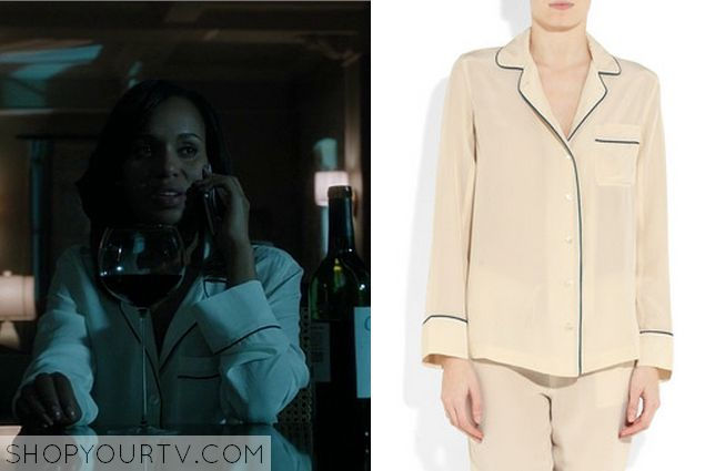 ShopYourTv:Scandal: Season 3 Episode 13 Olivia's White Pajamas - ShopYourTv