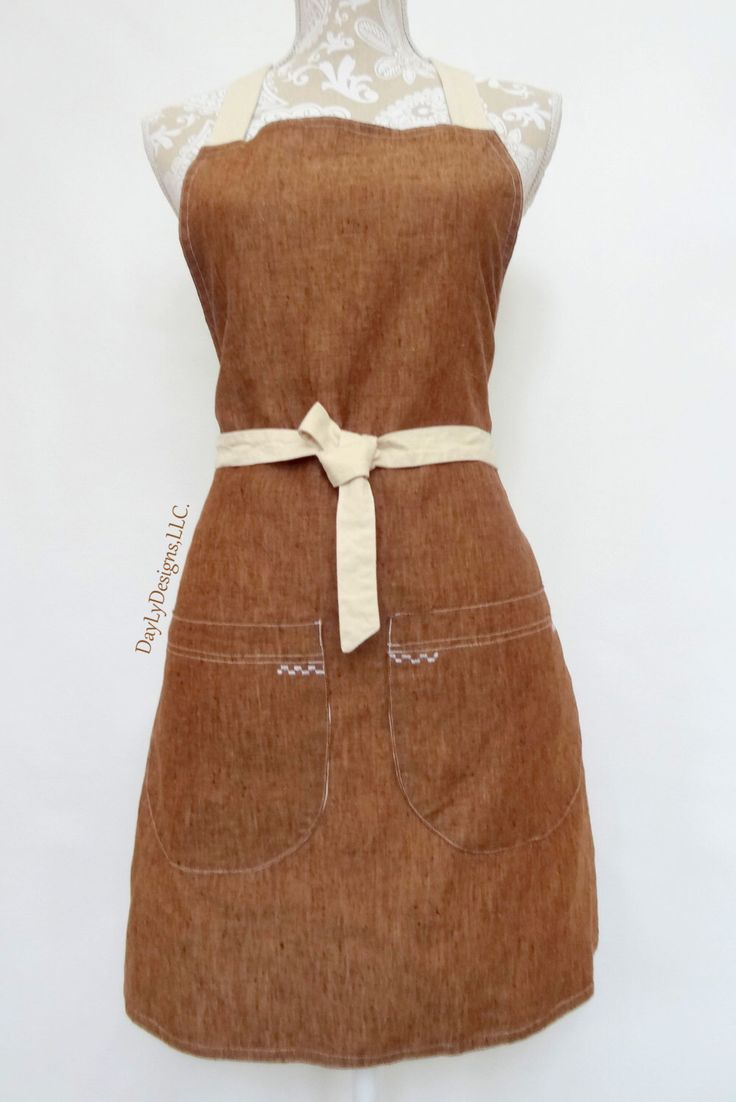 Who knew that a beautiful, 100% linen could make an apron look so perfect and sophisticated! Washable, non shrinkable and absolutely stunning! ....A personal favorite from my Etsy shop https://www.etsy.com/listing/265053539/modern-apron-for-womenstylish-100-linen