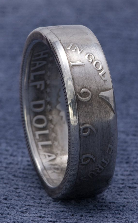 1966 JFK Kennedy Silver US Half Dollar Double Side Coin Rings Sizes 8-16 49 Year Wedding Anniversary 49th Birthday Gift 40% Silver Coin Ring