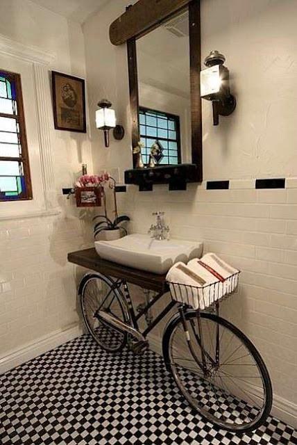 bike sink...super cool idea