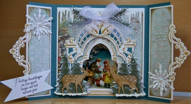 Astrids Kaarten: Workshop 25 november bij Doe@ding! Christmas card