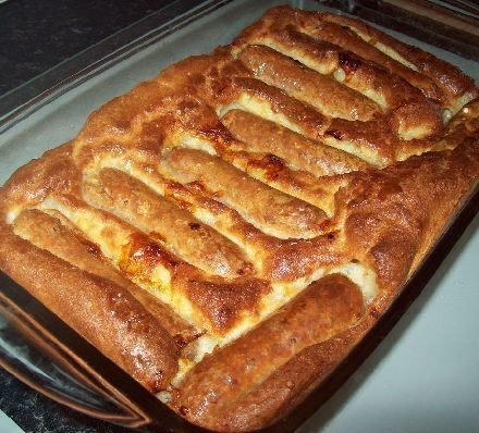 Mums proper Toad in the Hole recipe - Recipes - BBC Good Food. An easy, filling and tasty proper Toad-in-the-hole, the way it should be.: