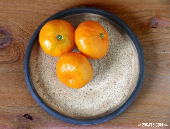 Walnut spice fruit bowl
