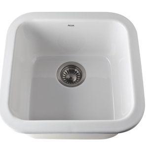 Rohl R592700 Allia Undermount Bar Sink White Coastal