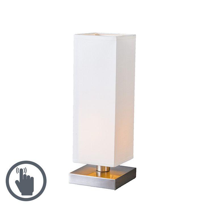 Tischleuchte Tower Touch Stahl mit weiß Jetzt bestellen unter: https://moebel.ladendirekt.de/lampen/tischleuchten/beistelltischlampen/?uid=6b12e70f-e473-5932-b032-28954849f30f&utm_source=pinterest&utm_medium=pin&utm_campaign=boards #lampen #tischleuchten #modern #design #beistelltischlampen Bild Quelle: www.lampenundleuchten.de