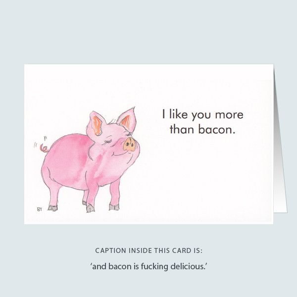 'more than bacon' greeting card
