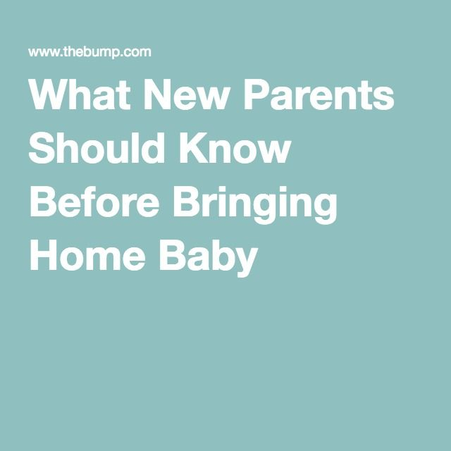 What New Parents Should Know Before Bringing Home Baby