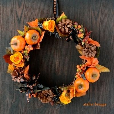ハロウィンのナチュラルリース の画像|生花・プリザーブドフラワー・キット・お花のブルージュ楽天市場