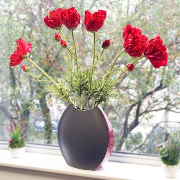 26 best finoak latex flowers images on pinterest floral shops artificial poppy red mightylinksfo