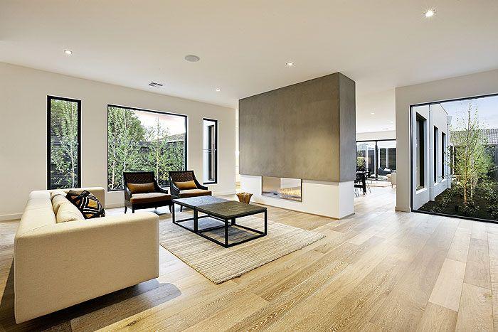 Smoked & Limed American Oak floors by Royal Oak Floors. www.royaloakfloors.com.au Stonnington Residential
