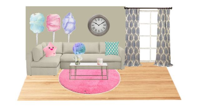 Girly living room by girlie-contrast on Polyvore featuring interior, interiors, interior design, home, home decor, interior decorating, Suki Cheema, TOM TAILOR, Cotton Candy and Delfina