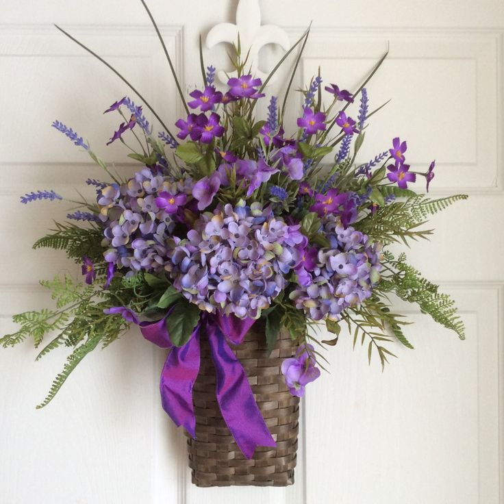 Lavender Basket-Spring Wreath-Summer by ReginasGarden on Etsy