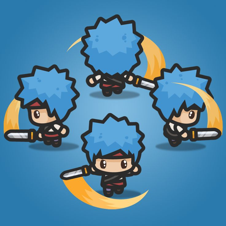 4 Directional Blue Hair Guy