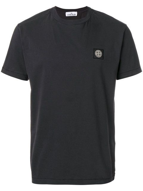 STONE ISLAND logo patch T-shirt. #stoneisland #cloth #