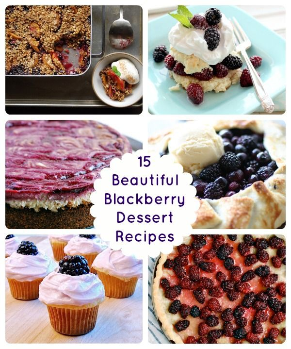 Summer Sweets! 15 Beautiful Blackberry Dessert Recipes
