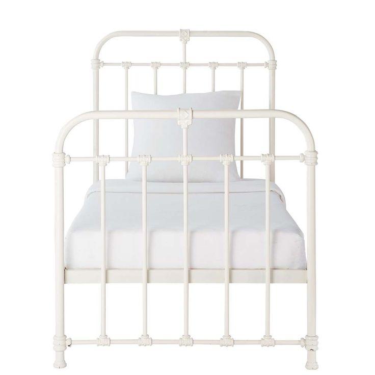 Wit metalen bed 90 x 190 cm - Nicolas