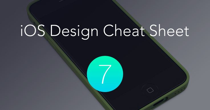 The iOS Design Cheat Sheet
