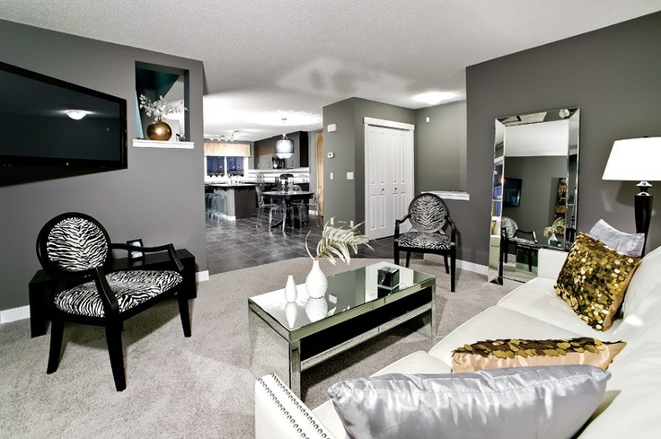 Living room in the Arbour II Showhome by Creations by Shane Homes (Previous Showhome)
