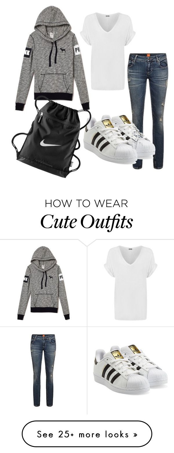 """""""Cute casual everyday outfit"""" by femgaymer1204 on Polyvore featuring adidas Originals, WearAll and NIKE"""