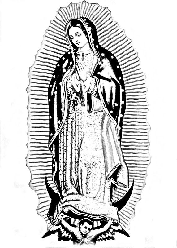 "Virgen de Guadalupe coloring pages. Offer these with ""Mary"" or invite ..."