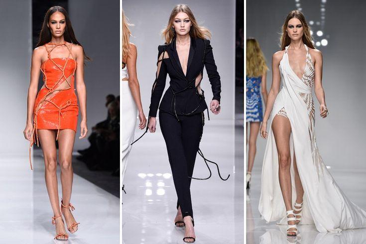 Die neusten Couture-Entwürfe von Versace präsentierten prominente Models auf der Pariser-Couture-Week