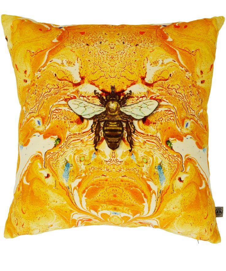 Timorous Beasties Yellow Honey Bee Velvet Cushion | Home | Liberty.co.uk