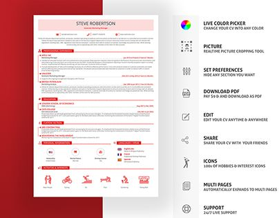 Cv Resume Builder 24 Best Cv Design Images On Pinterest  Cv Design Design Resume