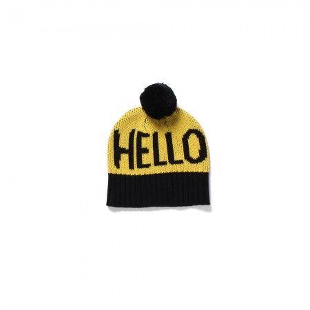 Hello Beanie - Yellow/Black