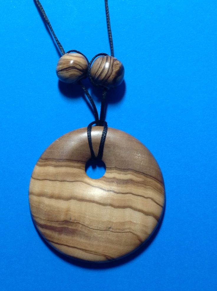 130 year old south Australian Olive pendant & beads Made in NZ. Latheabout.com