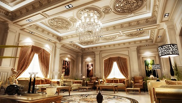 Classic Interior Design With Classic House Design With Living Room