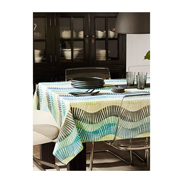 Simons Maison Geo Wave Tablecloth ($32) ❤ Liked On Polyvore Featuring Home,  Kitchen