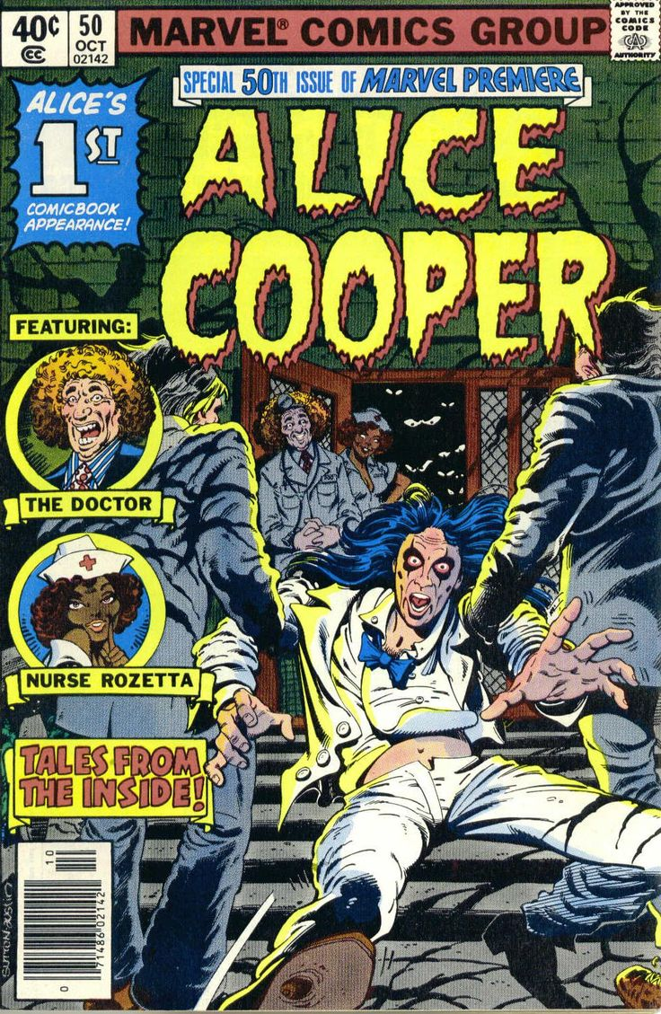 Alice Cooper ComicMarvel Premier, Comics Book, Cooper Comics, Horror Comics, Comics Covers, Marvel Comics, Ghosts Zombies, Comicbook, Alice Cooper