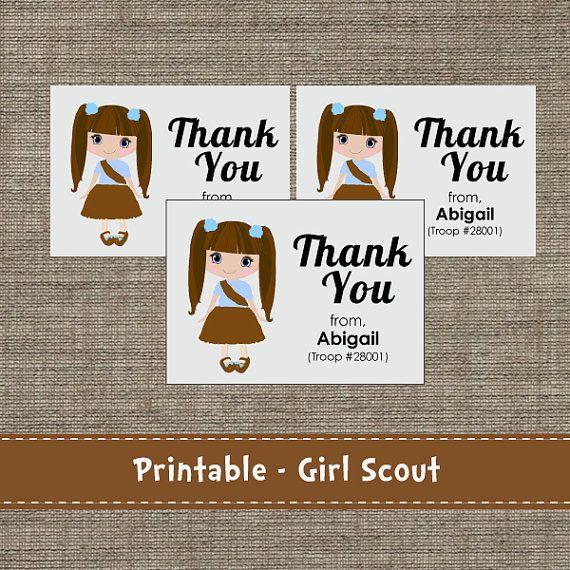Troop Girl Thank You Cards Diy Printable My Next Big