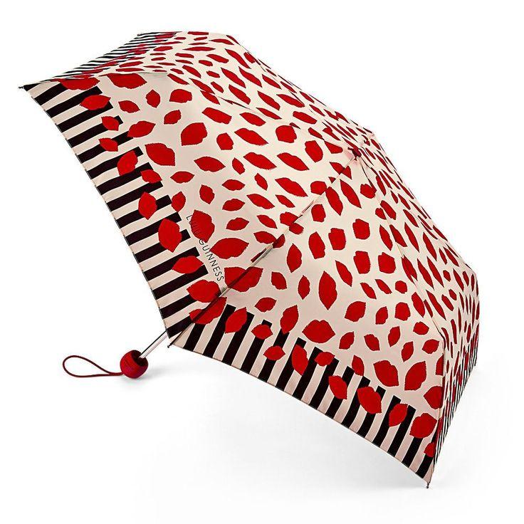 Lulu Guinness Lip Stripe Border Superslim Umbrella Lulu Guinness Offer  Beautifully Detailed Designs .